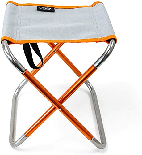 Folding Mini Camping Stool, Ultralight Portable Folding Camping Chair, Portable Compact for Outdoor Camp, Beach, Picnic, Hiking,The Folded Size 10.6 4.7 1.6 Orange Gray
