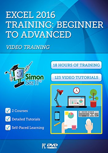 Excel 2016 Training Course by Simon Sez IT: 2 Self-Paced Software Courses For Absolute Beginners – Video Tutorials…