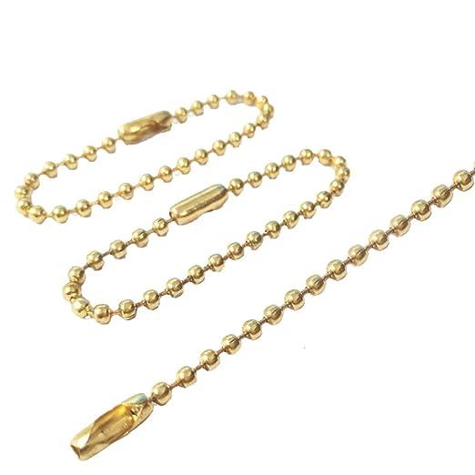 Heallily - Cadena de bolas para llavero, larga, perla ...