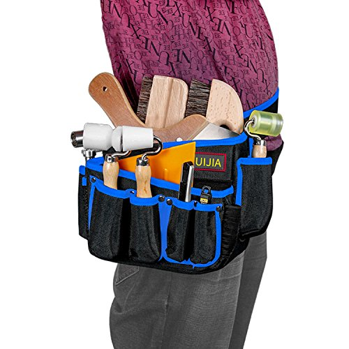 HUIJIA Tool Pockets Multifunctional Over Size Tool Bags Storages for Tools Electrical and Maintenance Tool Pocket Carrier Resistant Blue by HUIJIA