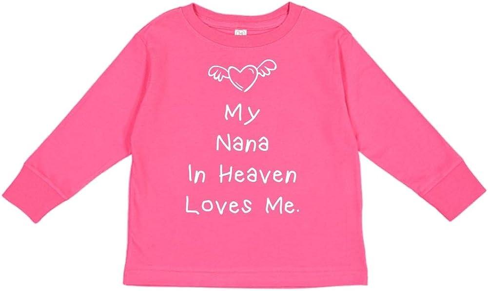 Toddler//Kids Long Sleeve T-Shirt My Nana in Heaven Loves Me