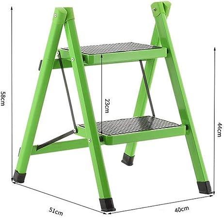 XEWNEG Inicio Escalera De 2 Escalones, Función Antideslizante Plegable, Taburete De Oficina Portátil para Cocina Al Aire Libre (Color : B): Amazon.es: Hogar