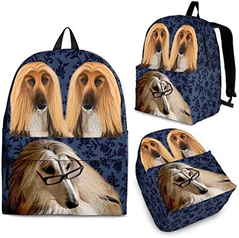 Breedink Afghan Hound Dog Print Backpack / Breedink Afghan Hound Dog Print Backpack