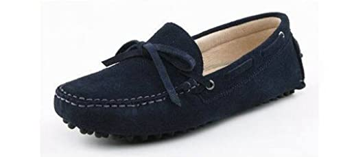Minitoo La nueva conducción de ante borla de Hombres Loafers Penny zapatos de barco, color Amarillo, talla 41 EU