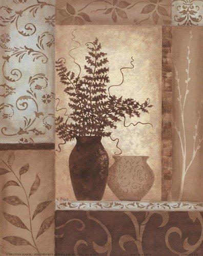 Eucalyptus Silhouette I by Vivian Flasch - 8x10 Inches - Art Print Poster (Flasch Eucalyptus)