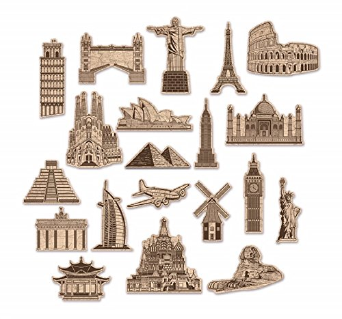 BeistleCo 20 Around The World Travel Theme Cutouts for Parties and Nurseries]()