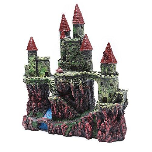 (Efivs Arts Resin Castle Aquarium Decoration for Fish Tank Aquarium Ornament Aquatic Caves Hide Hut-10 inche)