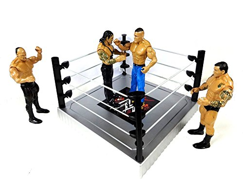 Decor Express Flexforce 4 WWE Wrestling Action Figures Toy for Kids with Fight Ring and Accessories