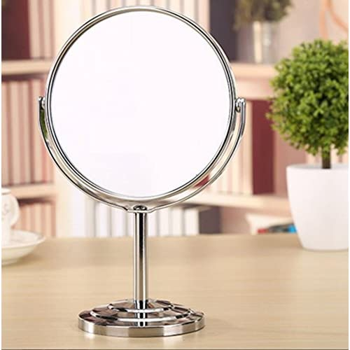 HD Desktop mirror/ European-style two-sided dressing mirror/ Princess mirror/Portable portable beauty magnifying glass-E outlet