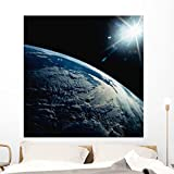 Earth Seen from Space Wall Mural by Wallmonkeys Peel and Stick Graphic (48 in H x 47 in W) WM124567