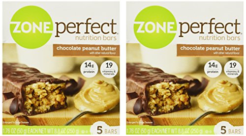 (Zone Perfect Chocolate Peanut Butter 5 bars - Pack of 2- 8.8 0z each)