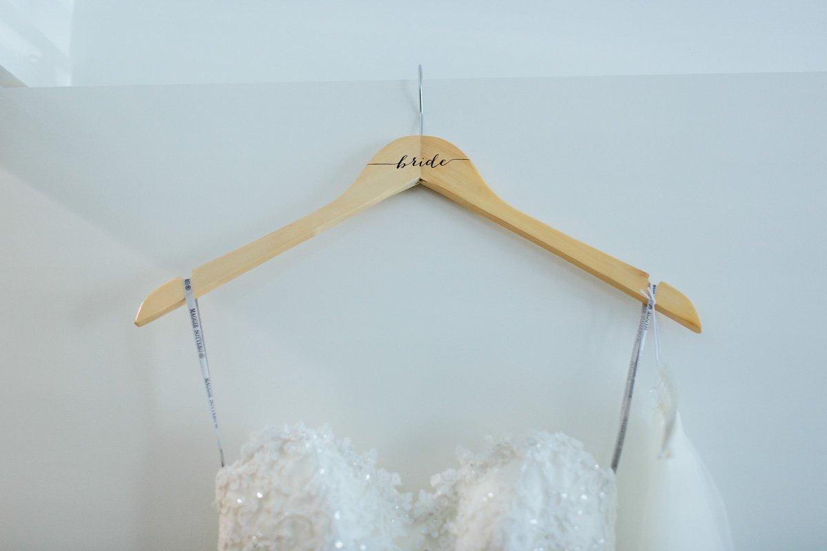 Amazon.com: Bride Hanger Bridesmaid Hangers Wedding Hangers for ...
