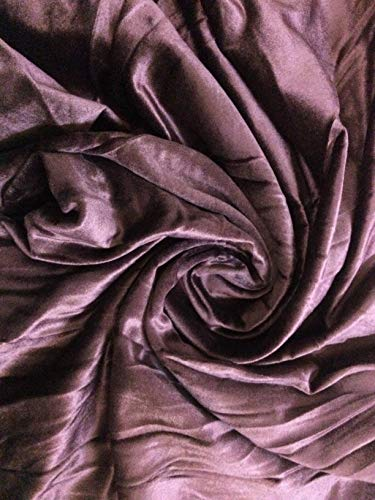 100% Cotton Velvet Fabric for Upholstery, Drapery Velvet (All Purpose use)-56 Inches Wide-Medium to Light Weight-Price per Yard- Express Shipping (Plum) ()
