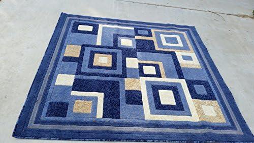 Carpet Kings Modern Square Area Rug Blue Design 125 5ft.3in.x5ft3in.square