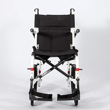 Transporte De Aleación De Aluminio Silla De Ruedas Respaldo Plegable Control De Freno De Marcha Ancianos