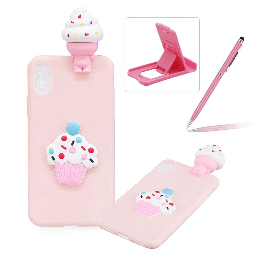 TPU Case for iPhone XR, Soft Rubber Cover for iPhone XR, Herzzer Ultra Slim Stylish 3D Flamingo Series Design Scratch Resistant Shock Absorbing Flexible Silicone Back Case iPhone XR 6.1