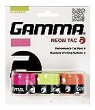 Gamma Sports Overgrip Dri o Tac Agarre neón de raqueta de tenis, Neon Tac, Paquete de 3