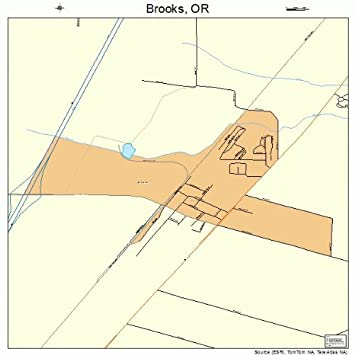Amazon.com: Large Street & Road Map of Brooks, Oregon OR   Printed