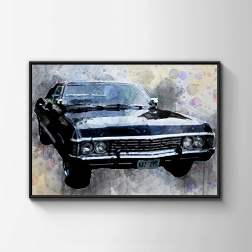 Impala - Classic Car - Supernatural - The Winchesters - Water Color - Multiple Sizes