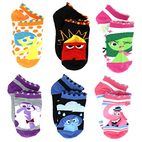Inside Out Adult 6 Pack Socks  9 11  Lurex Bright Multi