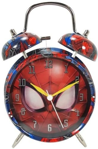 Marvel Ultimate Spider-Man Twin Bell Alarm Clock New