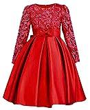 ZaH Big Little Girl Party Dress Flower Girl Christmas Gowns