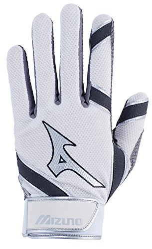 Fastpitch Softball Batting Glove - Mizuno MVP Adult Men's Baseball Batting Gloves, Large, White