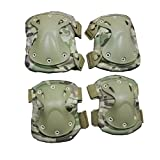 Tactical Military Airsoft Sport Knee and Elbow Protective Pads Adjustable-CP