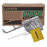 Cinch Gopher Trap with Tunnel Marking Flag (Small) Heavy-Duty, Reusable Rodent Trapping System | Lawn, Garden, and Outdoor Use | Weather Resistant Steel