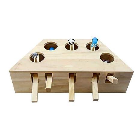 Whack Mole Mouse - Puzzle de Madera Maciza para Gatos, con 3 ...