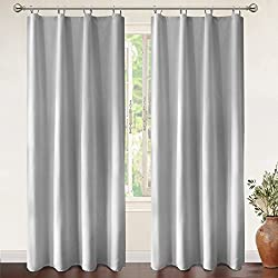 DriftAway Drift Away Thermal Insulated Blackout Curtain Liner for grommet 84 inch curtains. set of 2, each Liner size