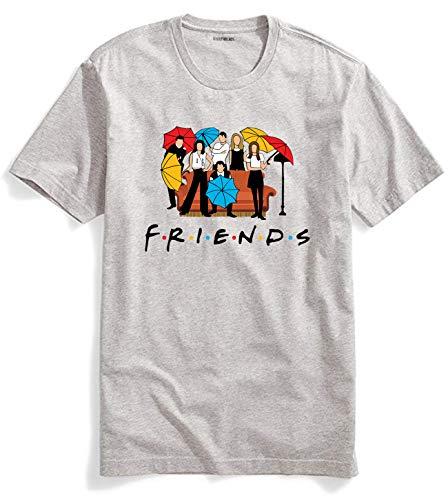 Men's Women's Cotton Tshirt Friend T Shirt Friend TV Show Merchandise Shirt Gifts Graphic Tees Funny T Shirts Tops T-Shirt (Friend T Shirt Gray, -