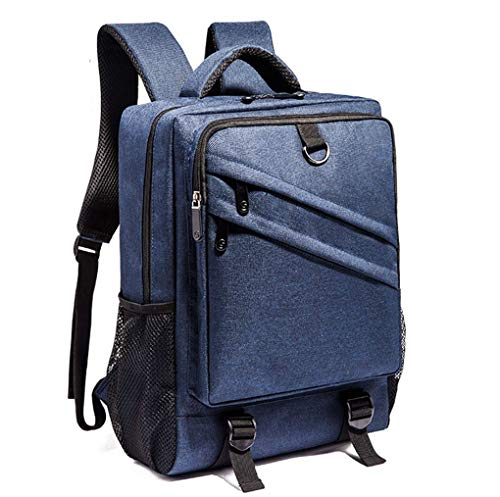 Jaycel-Ginny Multifunctional Polyester Business Laptop Backpack Hiking College Student Leisure Bag,Blue