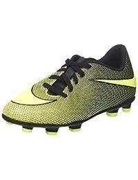 Nike Jr. Bravata II (FG) Firm-Ground Soccer Cleat Black/Volt Size 1 M US