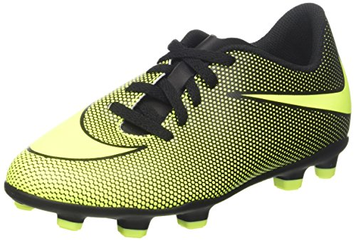 Fg Speed Boot - NIKE Kids' Bravata II FG Soccer Cleats (1, Black/Volt)