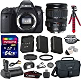Canon EOS 6D 20.2 MP Full-Frame CMOS Digital SLR Camera Bundle with Canon EF 28-135mm f/3.5-5.6 IS USM Lens + Transcend 64GB Memory Card + Canon Deluxe Case + 12' Spider Tripod + Battery Power Grip