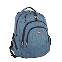 Swiss Gear SWA2417080 Backpack with Multi Compartments, Blue, Under Seat
