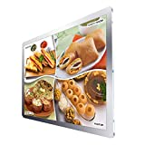 Acrylic Led Light Box for Advertising Beer Sign Holer with Halo Lighting Picture Frame (Silver)