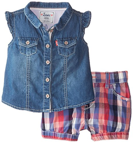 Levi's Baby Girls' My First Gift Set 2 Piece Denim Top and Short