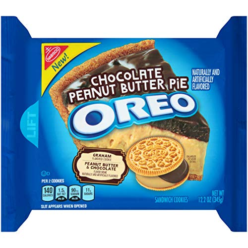 Oreo Chocolate Peanut Butter Pie Sandwich Cookies, 12.2 Ounce