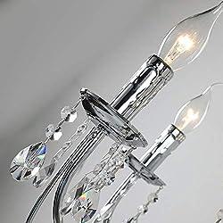 Crystal Chandelier Lighting 6 Lights Vintage Candl
