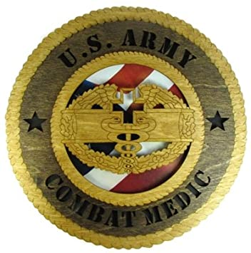 Amazon Army Combat Medic Laser Cut Military Wall Plaque With