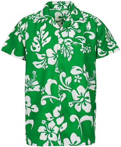 V.H.O. Funky Hawaiian Shirt, hibiskusgreen XL -