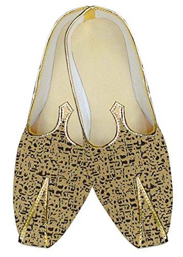 INMONARCH Amarillo Hombres Zapatos de Boda Para Novio MJ14180