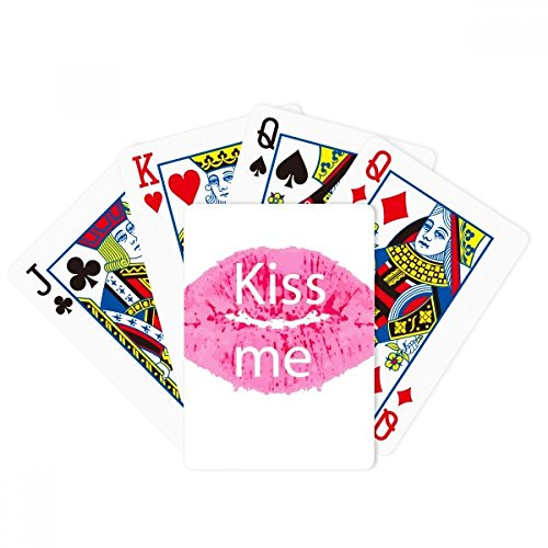 DIYthinker Pink Lip Kiss Me Valentine's Day Poker Playing Cards Tabletop Game Gift