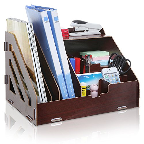 Desktop Supplies Organizer Magazine Document
