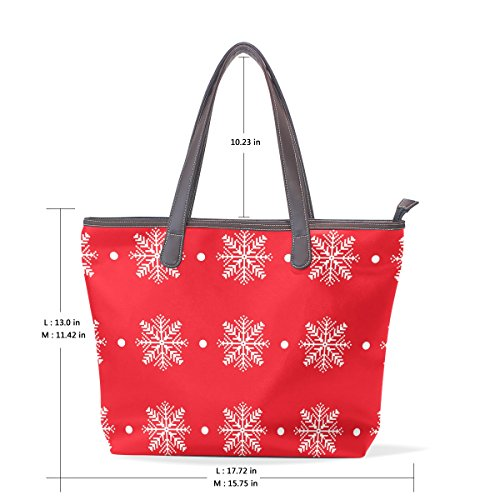 Happy Xmas Christmas Womens Fashion Large Shoulder Bag Handbag Tote Purse for Lady