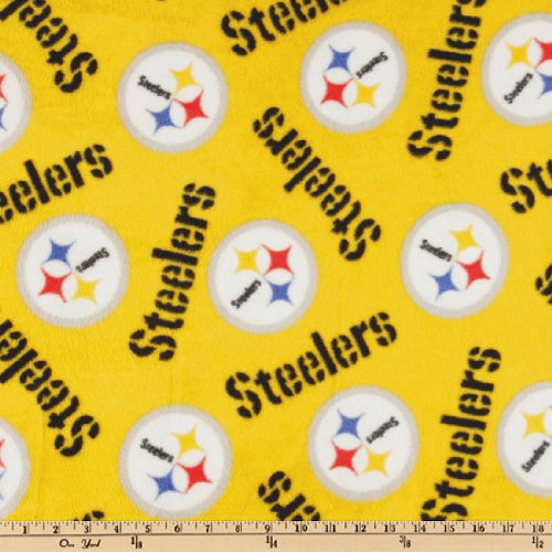 "Fabric Traditions""NFL Fleece Pittsburgh Steelers Medium Logo Yellow"