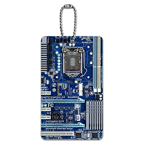 Blue Computer Motherboard - Processor CPU Memory ID Tag Luggage Card Suitcase Carry-On (Card Processor)