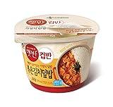 CJ Cupbahn Hatbahn Microwavable Rice Bowls (Fried Kimch (김치덮밥), 2 Pack)